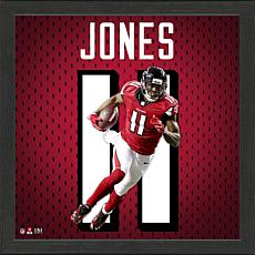 Julio Jones Impact Jersey Framed Photo