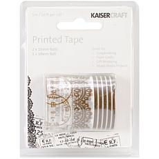 Kaisercraft 16' Printed Tape 3-pack - Timeless