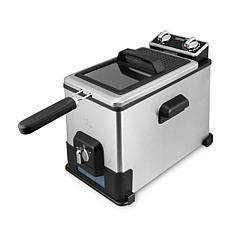 Kalorik 4.2-Quart Deep Fryer with Oil Filtration XL - Stainless Steel