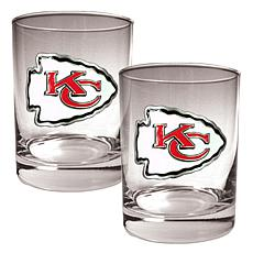Kansas City Chiefs 2pc Rocks Glass Set
