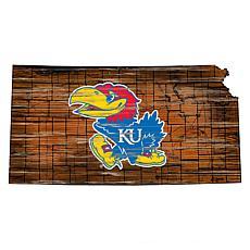 Kansas Distressed State with Logo
