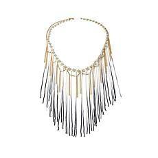 "Kelly Killoren ""Blonde"" Simulated Pearl Fringe Necklace"