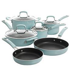 Kenmore Elite Andover 10pc Nonstick Aluminum Cookware Set - Blue