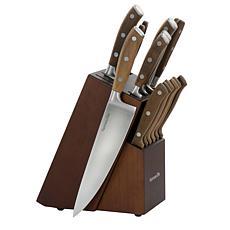 Kenmore Elite Cooke 14-Piece Stainless Steel Cutlery Set in Dark Brown