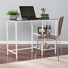 Killian Metal/Glass Student Desk - White