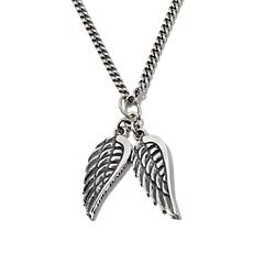 "King Baby Jewelry Double Wing Pendant with 24"" Chain"