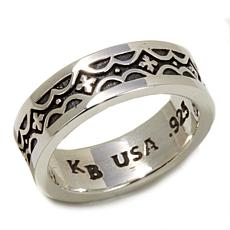King Baby Jewelry Sterling Silver Cross Band Ring