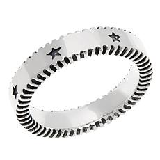 King Baby Sterling Silver Stackable Star Coin Edge Ring
