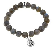 King Baby Sterling Silver Star Design Bead Bracelet