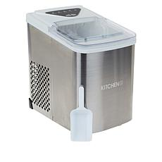 Kitchen HQ 26lb. Countertop Stainless Steel Ice Maker with Ice Scoop