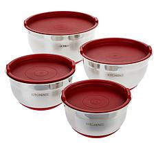 Kitchen HQ 8-piece Stainless Steel Mixing Bowl Set