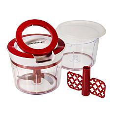 Kitchen HQ Mighty Prep Chopper and Whipper with Extra Bowl and Lid
