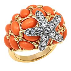 "KJL by Kenneth Jay Lane ""Beach Treasure""  Starfish Ring"