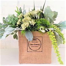 Koo-toore-a Floral Arrangement Mold with Stem Stabilizers Burlap Box