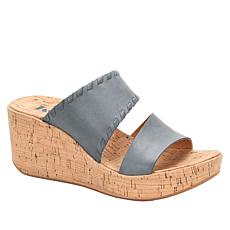 Korks Kendri Cork Wedge Leather Sandal