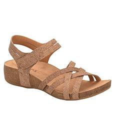 Korks Primrose Cork Wedge Leather Sandal