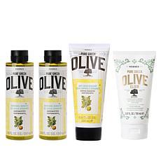 Korres 4-piece Olive Oil & Bergamot Age-Defying System