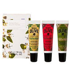 Korres Greek Olive Oil Perfect Pout Lip Oil Trio