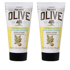 Korres Olive Oil & Bergamot Hand & Nail Cream Duo