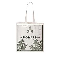 Korres Organic Canvas Olive Tote Bag