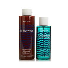 Korres Summer Wood Eau de Cologne & Shower Gel Duo