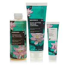 Korres Water Lily Blossom Bath & Body Trio