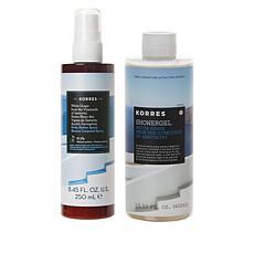 Korres White Grape Santorini Body Butter Spray and Shower Gel Set