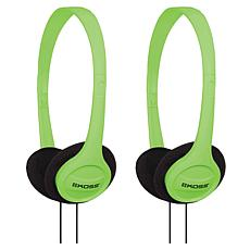 Koss KPH7 2-pack Wired On-Ear Stereo Headphones - Green