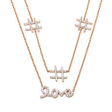 "Kristin Chenoweth ""Hashtag Love"" 1.50ctw CZ Necklace"