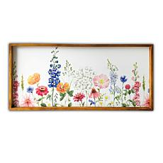 "Kroll Creations Spring Garden 19"" x 45"" Wood Framed Canvas Art"