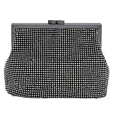 La Regale Crystal Shimmer Mesh Coin Purse/Clutch