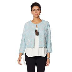 LaBellum by Hillary Scott Handbeaded Canvas Jacket