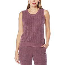 Laila Ali Cable-Front Sweater Knit Tank