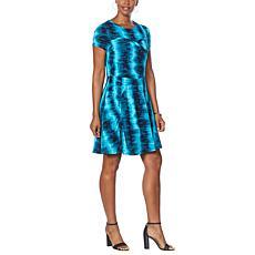 Laila Ali Cap-Sleeve Swing Dress
