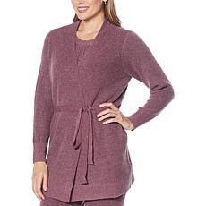 Laila Ali Long-Sleeve Wrap Sweater Cardigan