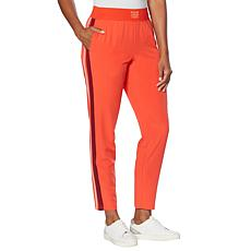 Laila Ali Side Stripe Woven Pull-On Pant