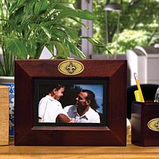 Landscape Brown Picture Frame - New Orlean Saints - NFL