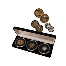 Large Cent, 2-Cent and 3-Cent United States Coin Set
