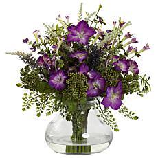 Large Mixed Morning Glory with Vase