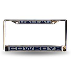 Laser Chrome License Plate Frame - Dallas Cowboys