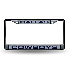 Laser-Engraved Black License Plate - Dallas Cowboys