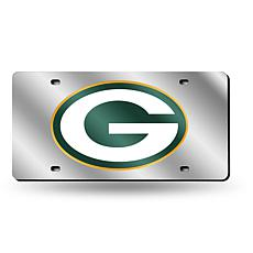 Laser-Engraved Silver License Plate - Green Bay Packers
