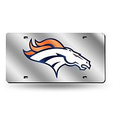 Laser-Engraved Silver Plate - Denver Broncos