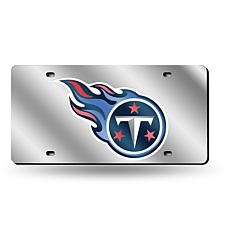 Laser-Engraved Silver Plate - Tennessee Titans Fireball