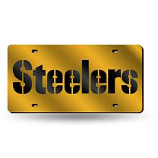 Laser-Engraved Yellow Plate - Pittsburgh Steelers