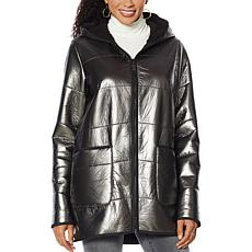 Laurier Metallic Quilted Coat