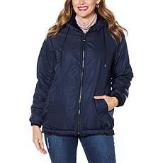 Laurier Reversible Faux Fur Blouson Coat