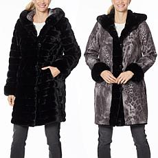 Laurier Reversible Faux Fur Coat
