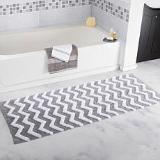 Lavish Home 100 Cotton Chevron Bathroom Mat 24 X 60