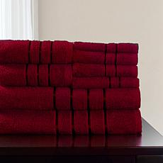 Lavish Home 100% Cotton Plush 8-piece Bath Towel Set